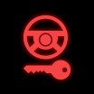 steering lock vehicle dashboard warning light